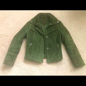 Danier Leather Suede Moto Jacket